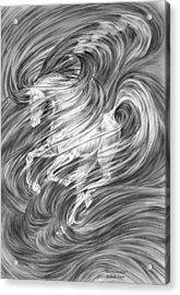 Acrylic Print featuring the drawing Horsessence - Fantasy Dream Horse Print by Kelli Swan