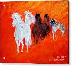 Horses.soul Collection. Acrylic Print by Oksana Semenchenko