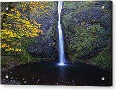 Horsetail Falls Acrylic Print by Mark Kiver