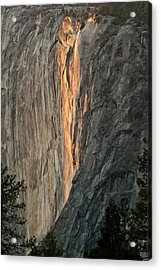 Horsetail Falls Sunset Acrylic Print by Patricia Sanders