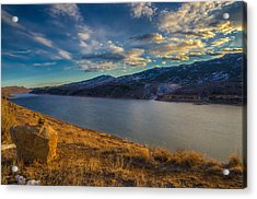 Horsetooth Reservoir Late Afternoon Acrylic Print by Harry Strharsky