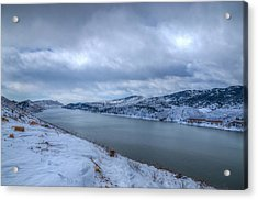 Horsetooth Reservoir Looking South Acrylic Print by Harry Strharsky