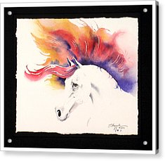 Horsin Around Number One Acrylic Print by David  Chapple