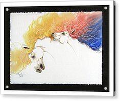 Horsin Around Number Ten Acrylic Print by David  Chapple