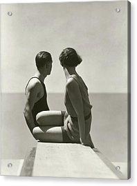 The Bathers Acrylic Print by George Hoyningen-Huene