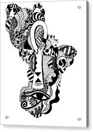 Horus Ankh Acrylic Print by Kenal Louis