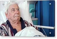 Hospital Patient Acrylic Print by Life In View