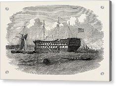 Hospital Ship Near The Seraglio At Constantinople Istanbul Acrylic Print