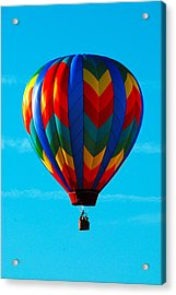 Hot Air Ballon In Flight Acrylic Print