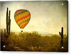 Hot Air Balloon Flight Over The Southwest Desert Fine Art Print  Acrylic Print by James BO  Insogna