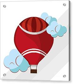 Hot Air Balloon Graphic , Vector Acrylic Print