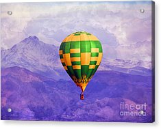 Hot Air Balloon Acrylic Print by Juli Scalzi