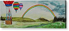 Hot Air Balloon Rainbow Acrylic Print