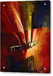 Hot Air Balloon Ready To Go Acrylic Print by Kirt Tisdale