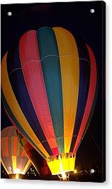 Hot Air Balloon Up Up Glow Acrylic Print by Kathy Bassett
