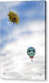 Hot Air Balloons In Flight Acrylic Print