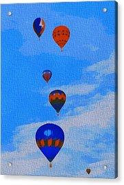 Hot Air Balloons Pop Art Acrylic Print by Dan Sproul