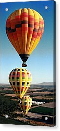 Balloon Stacking Acrylic Print by Richard Engelbrecht