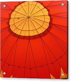 Hot Air Balloon At Dawn Acrylic Print by Art Block Collections