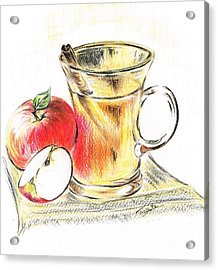 Hot Apple Cider Acrylic Print by Teresa White