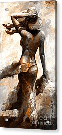 Hot Breeze - Digital Color Version Rust Acrylic Print by Emerico Imre Toth