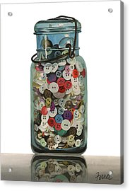 Acrylic Print featuring the painting Hot Buttons by Ferrel Cordle