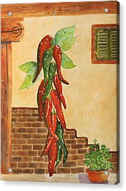Hot Chili Peppers Acrylic Print by Patricia Novack