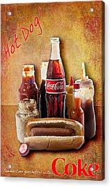 Hot Dog And Cold Coca-cola Acrylic Print