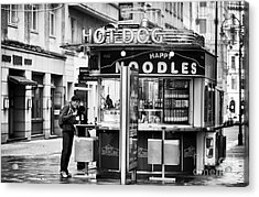 Hot Dogs Or Noodles Acrylic Print by John Rizzuto