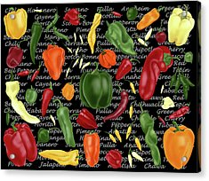 Hot For Chilis Acrylic Print