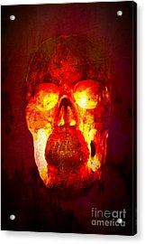 Hot Headed Skull Acrylic Print