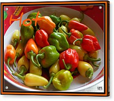 Acrylic Print featuring the photograph Hot Hot Peppers by Heidi Manly