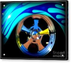 Acrylic Print featuring the photograph Hot Hot Wheels  by Bobbee Rickard