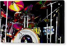 Hot Licks Drummer Acrylic Print by Kae Cheatham