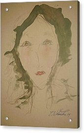 Hot Lips In Silence Acrylic Print by Edward Wolverton