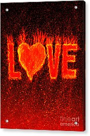 Hot Love  Acrylic Print by Bill Holkham