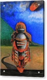 Acrylic Print featuring the painting Hot Moto by Tim Mullaney