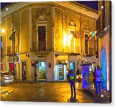 Hot Nights In The Yucatan Acrylic Print by Mark E Tisdale
