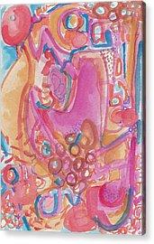 Hot Pink Abstract Acrylic Print