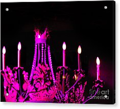 Hot Pink Chandelier Acrylic Print by Sonja Quintero