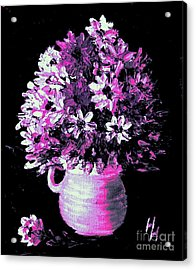 Hot Pink Flowers Acrylic Print