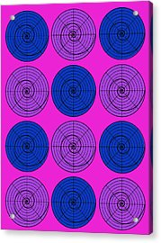 Hot Pink Orb Circle Bubble Pop A La After Warhol Acrylic Print
