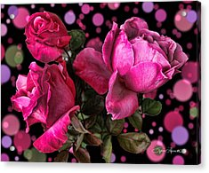 Hot Pink Trio Acrylic Print by Sylvia Thornton