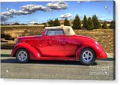 Hot Red Car Acrylic Print