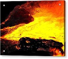 Hot Rock And Lava Acrylic Print