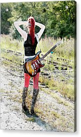 Hot Rocker Acrylic Print by David Stasiak