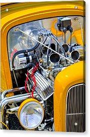Hot Rod Acrylic Print by Bill Wakeley