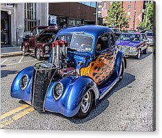 Hot Rod Car Acrylic Print by Edward Fielding
