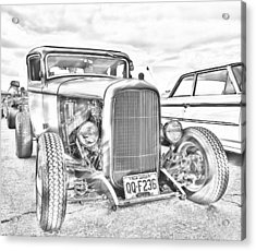 Hot Rod Faux Sketch Acrylic Print