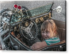 Hot Rod Girl Acrylic Print by Howard Markel